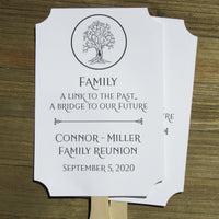 Personalized family reunion hand fans