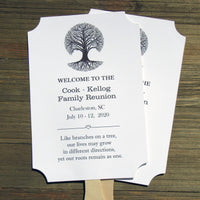 Personalized family reunion fans