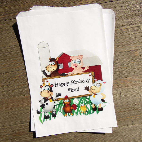 farm birthday party bags