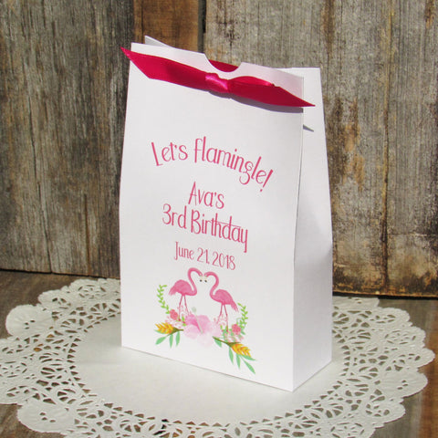 Flamingo Favor Boxes