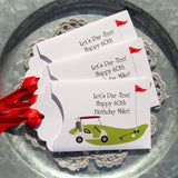 Golf party favors, lottery ticket holders, such a perfect party favor for the golf enthusiast. These will make wonderful men's birthday favors or even retirement favors