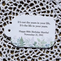 Adult Birthday Favor Tags