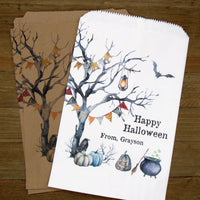 Personalized Halloween Favor Bags