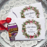 Personalized Christmas Favors, these Lottery Ticket Envelopes are the perfect size for scratch off lottery tickets. They make great little gifts for co-workers, friends or neighbors or for a Christmas Party. These also hold credit card size gift cards, perfect for Christmas Gift Card Holders
