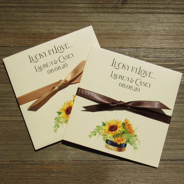 Sunflower Wedding Favors