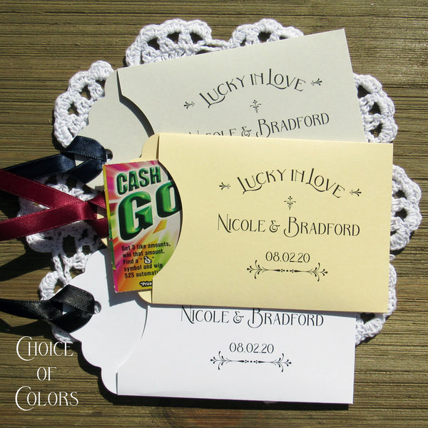 Wedding Lottery Favors Personalized