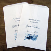 Navy Blue Wedding Favor Bags