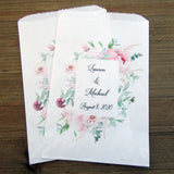 Pink Wedding Favor Bags