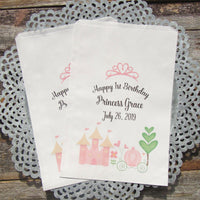 These adorable Princess Party Bags are sure to be a hit! Our Princess favor bags are just perfect for candy or toys for the guests to take home from your Princess birthday party.
