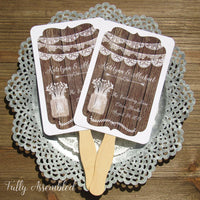 Rustic Wedding Fans