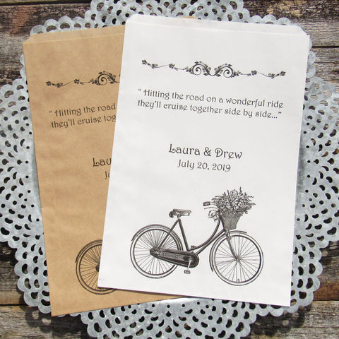 Wedding Bicycle Favor Bags