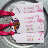 Give your guests a chance to win big at your flamingo party! Slide a scratch off lotto in our flamingo favors for some fun at your party. Our adult party favors are personalized for the guest of honor. Pink flamingo favors can be made for birthday party favors, bridal shower favors, baby shower favors, or even pool party favors