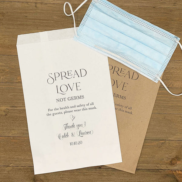 Wedding Face Mask Bags