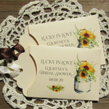 Sunflower Bridal Shower Favors
