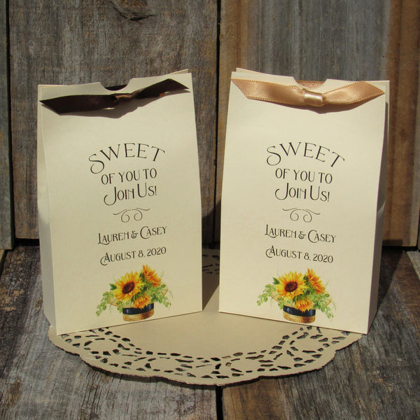 Sunflower Wedding Favor Boxes