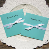 Aqua Blue Wedding Favors