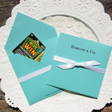 Eye catching and elegant, the distinctive design of these lovely Aqua Blue wedding favors are sure to compliment your wedding theme. Give your guests a chance to win big by enclosing a scratch off lotto ticket. Envelopes are also a perfect fit for a custom coaster or a gift card. These make unique favors for birthday parties, bridal showers, baby showers or even engagement parties