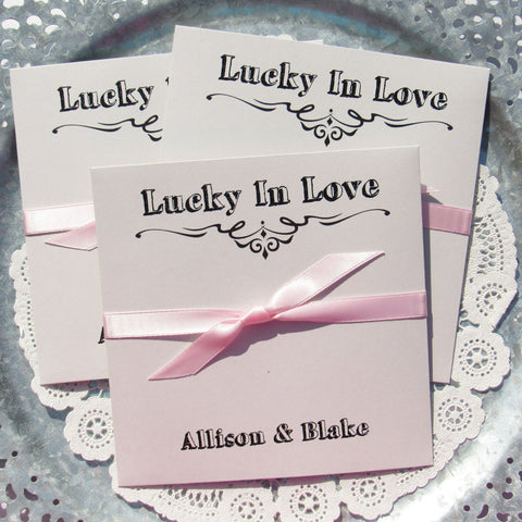 Lucky In Love Wedding Favors