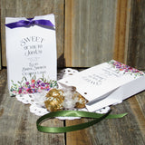 NEW! Our floral bridal favors are sure to impress your guests! Perfect bridal shower favors, fill with, Lindor Truffles , Ghirardelli Chocolate Squares, cookies, large enough for many treats. These are also perfect for rehearsal dinner favors or wedding favors.