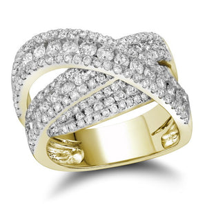 2 CTW-DIA FASHION RING