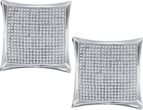 2 CTW-DIA MICRO-PAVE EARRINGS