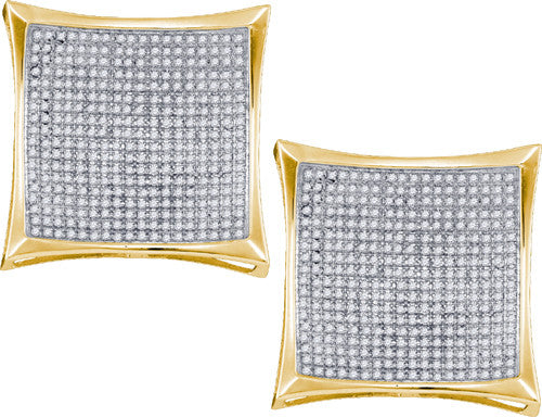 10k 2 CTW-DIA MICRO-PAVE EARRINGS