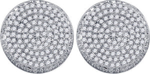 5/8CT-DIA MICRO-PAVE MENS EARRINGS
