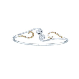 14k 5/8CT-DIA FASHION BANGLE