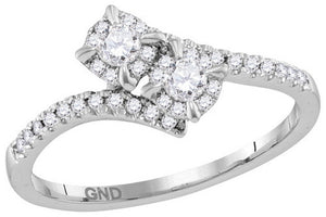 1/3CT-DIA 2Stone Ring