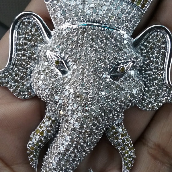 Diamond Elephant Pendant *Call for pricing.