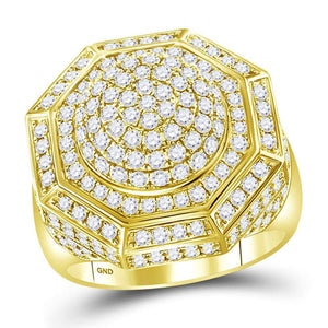 2 3/4CT-DIA MENS RING