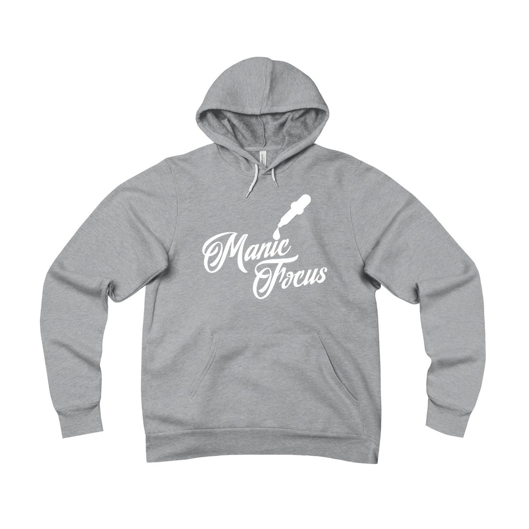 The Script Dropper 'Sponge Fleece Hoodie' In Grey