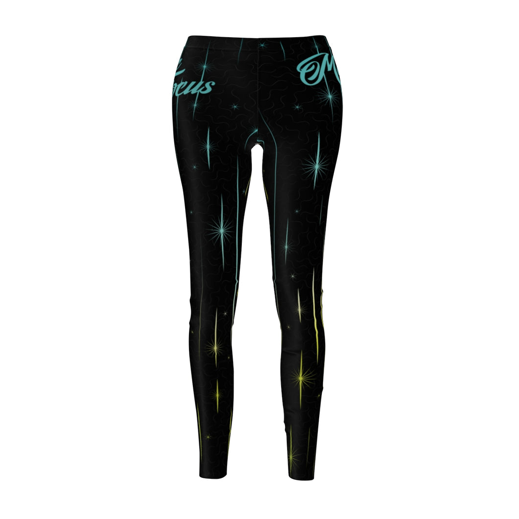 The 'Super Happy New Year' Sublimated Leggings in Black