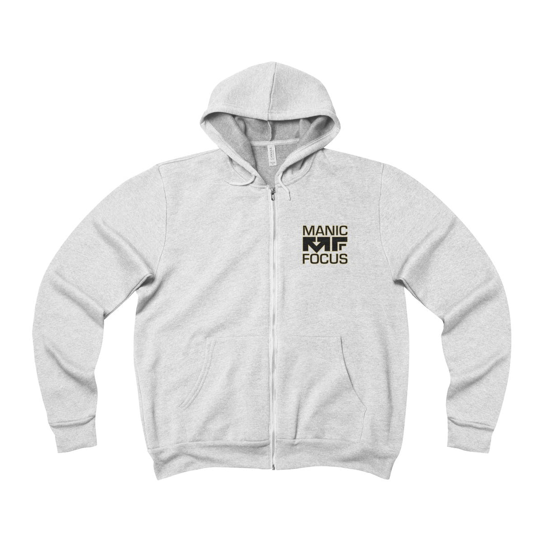 The Stronger Logo 'Sponge Fleece Zip Up' In White