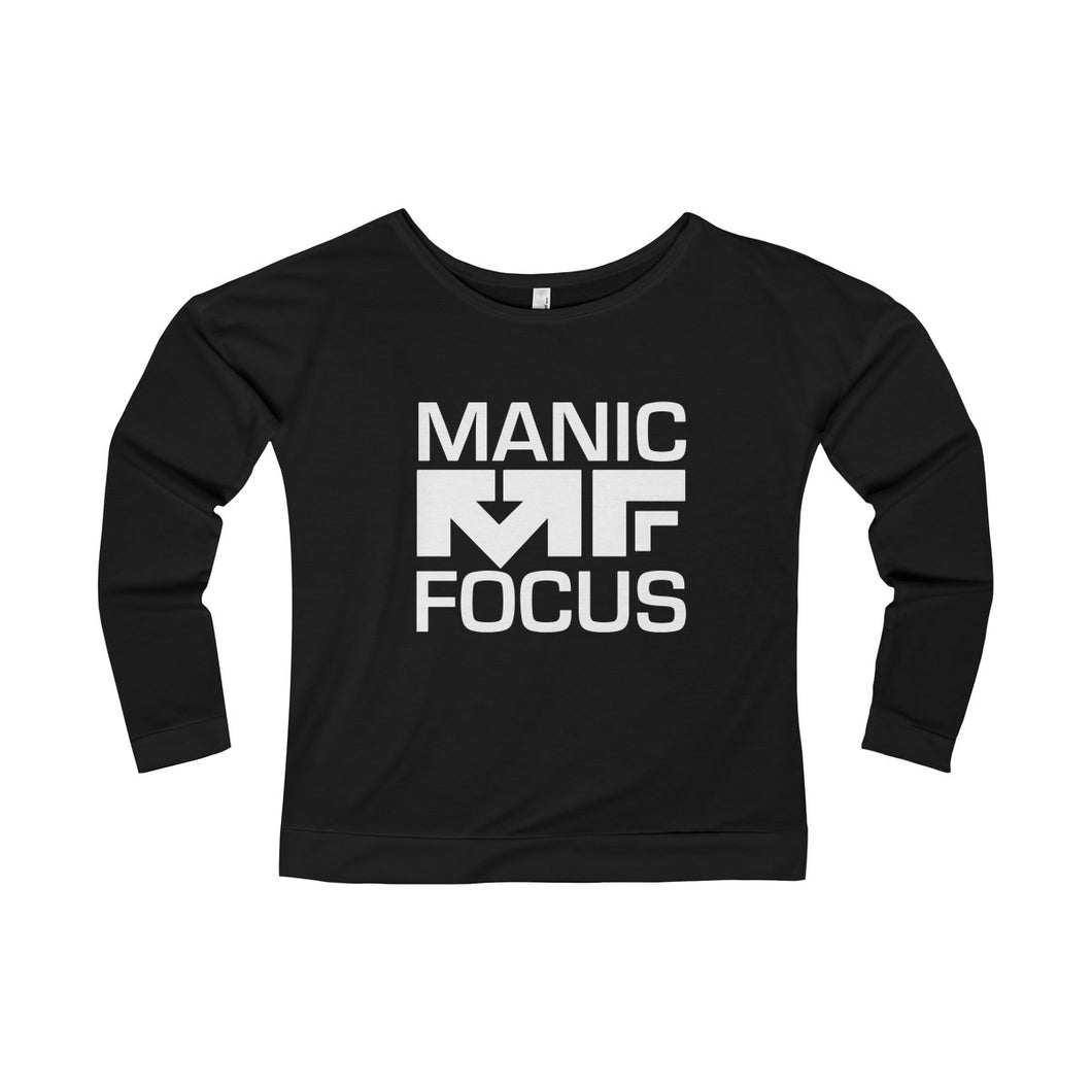 The Block Logo 'Long Sleeve Scoopneck' In Black