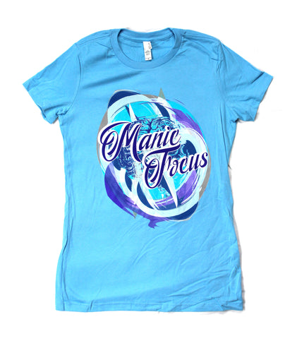 The Manic Brain 'Boyfriend Tee' In Bright Blue