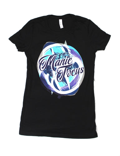 The Manic Brain 'Boyfriend Tee' In Black