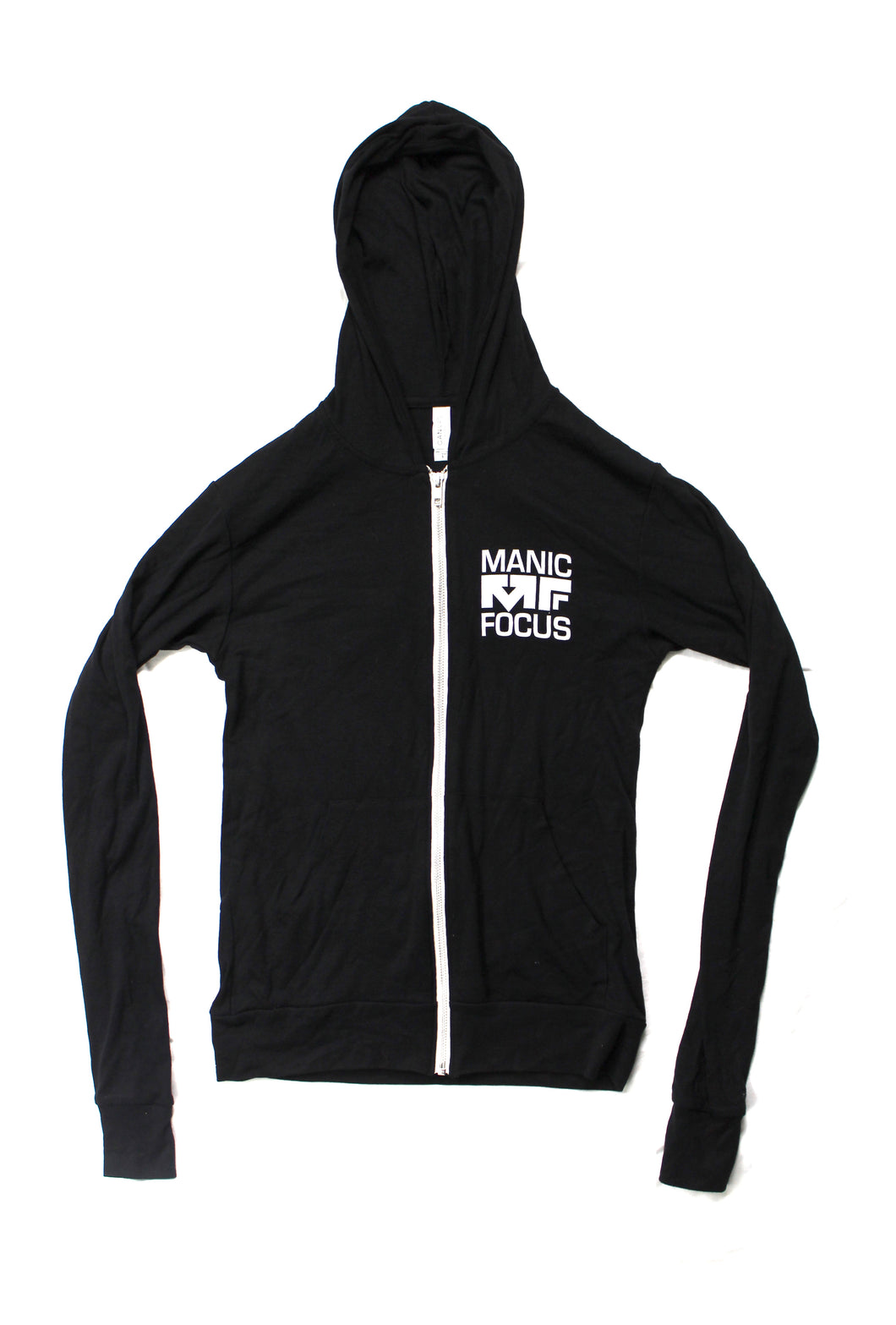 The MF Brain Lightweight Zip Up Hoodie In Black