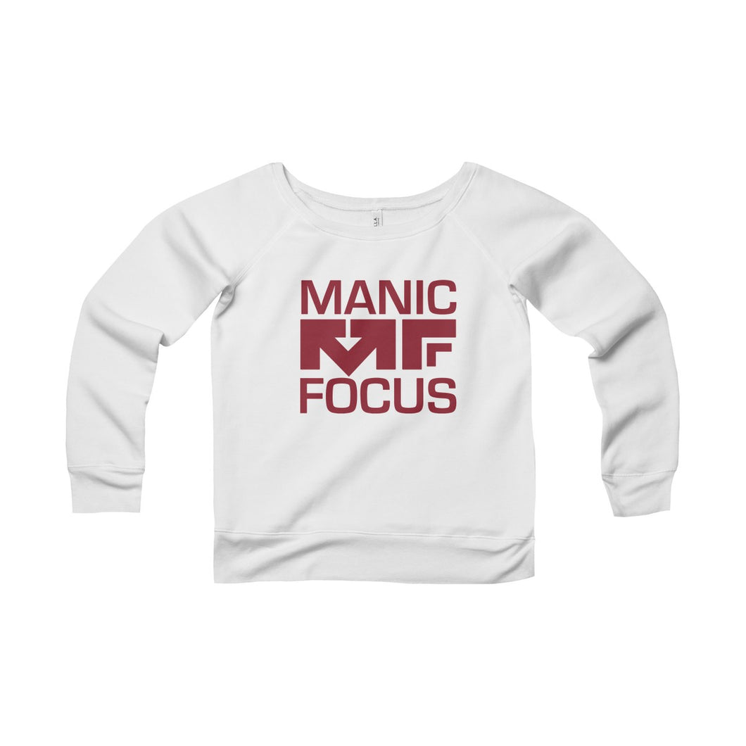 The Block Logo 'Sponge Fleece Crewneck' In White