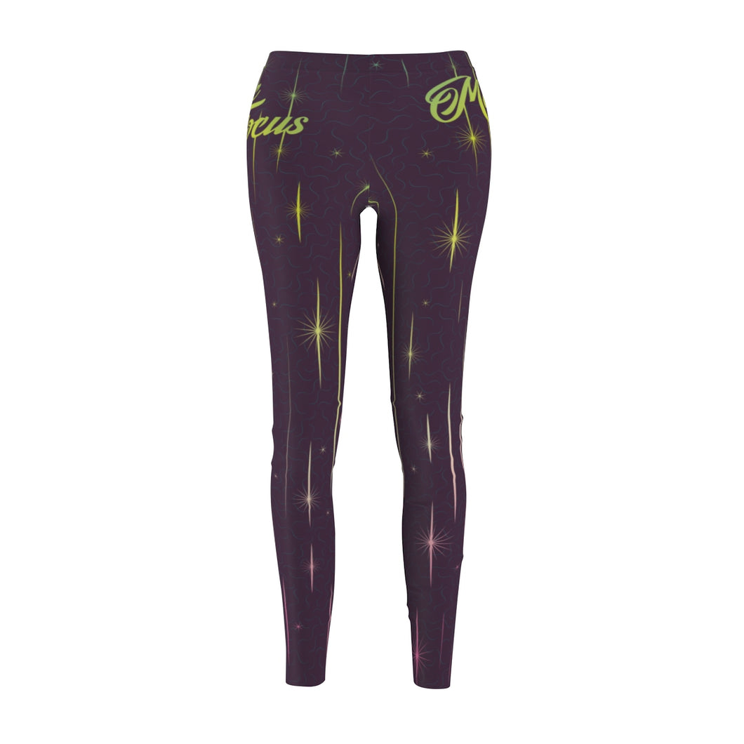 The 'Super Happy New Year' Sublimated Leggings in Plum