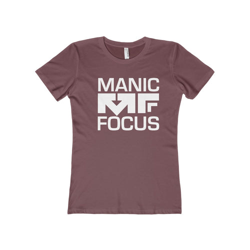 The Block Logo 'Boyfriend Tee' In Maroon