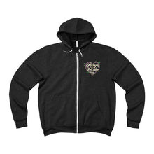 The Stronger Logo 'Sponge Fleece Zip Up Hoodie' In Black