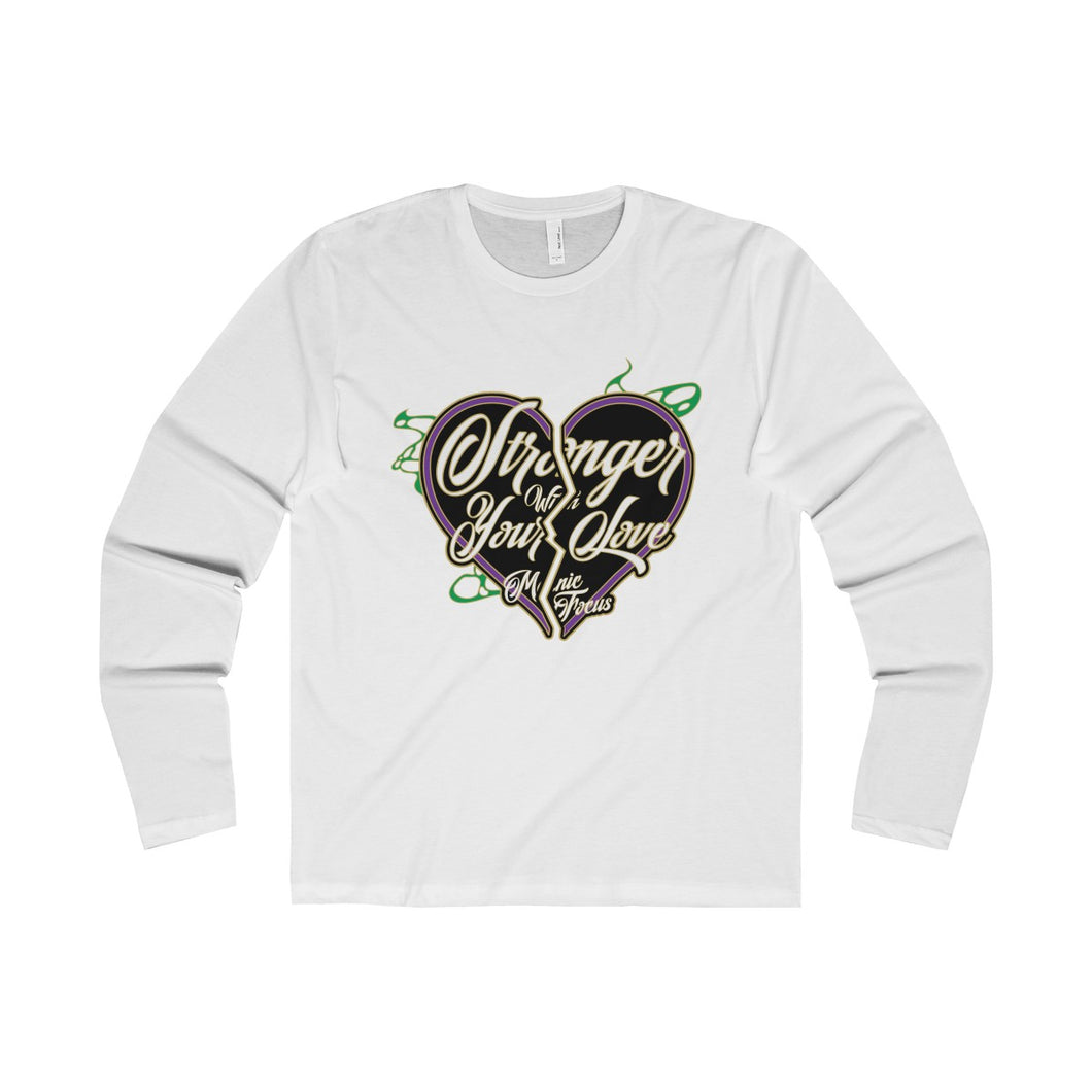 The Stronger Logo 'Premium Long Sleeve Tee' In White