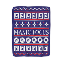 The 'Manic Focus Christmas' Sherpa Blanket