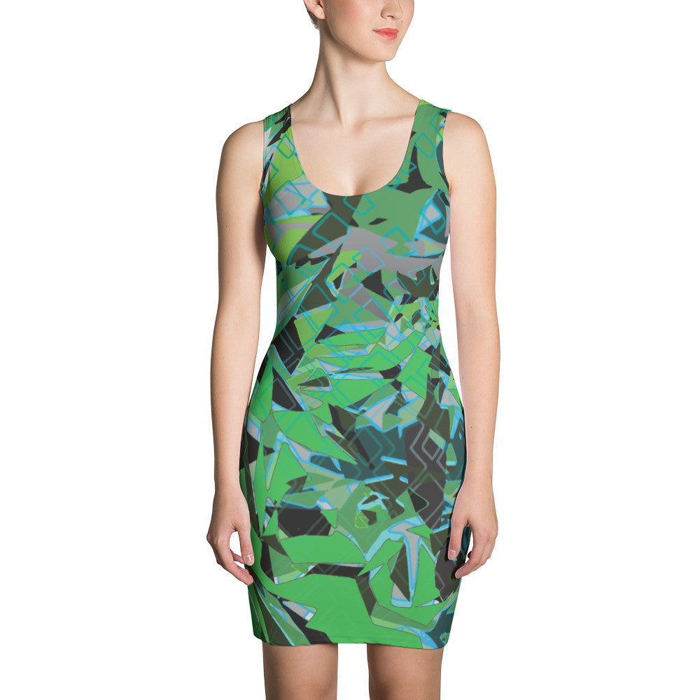 The Triangulator Print Sublimated Dress