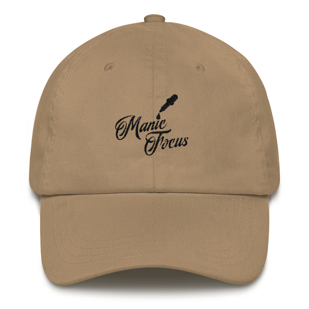 the Script Dropper Dad hat In Khaki