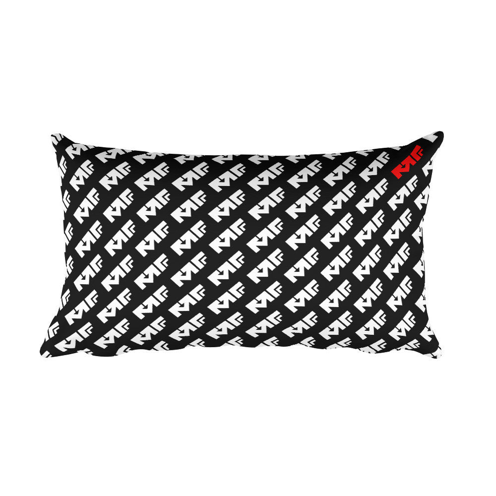 The Repeat Print Pillow in Black/White