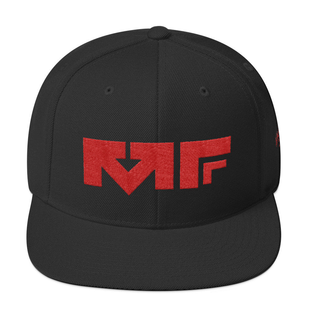 The Block Logo Snapback In Black/Red