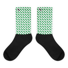 The Repeat Sock In White/Green