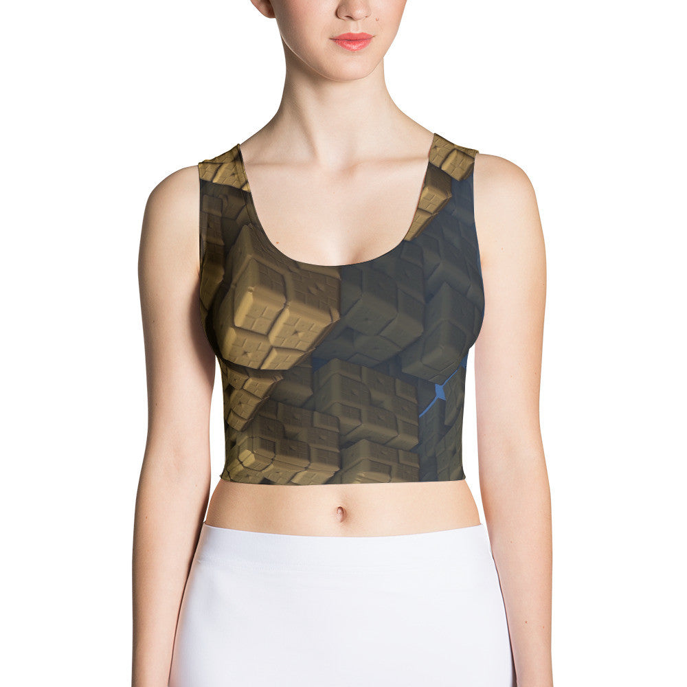 The Spectral Cubes Print Sublimated Crop Top